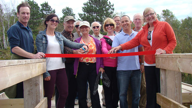 Friends of Lake Laurentian ribbon cutting