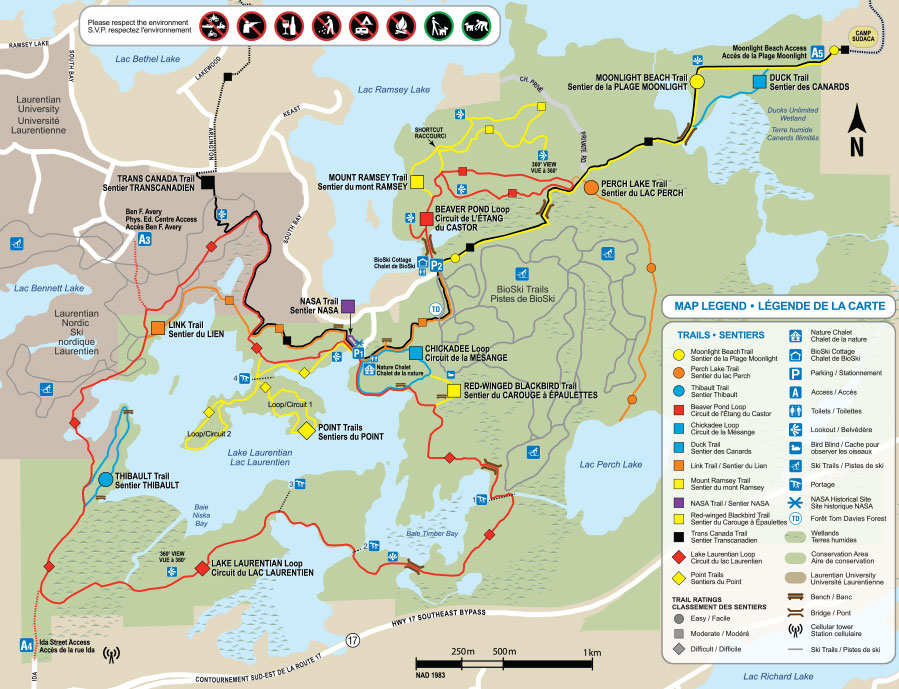 LLCA trail map