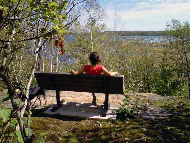 taking a break at Lake Laurentian Conservation Area Sudbury, Ontario